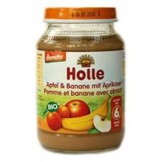 Petit pot pomme-banane avec abricots Holle /  Töpfchen Apfel-Banane mit Aprikose 190g
