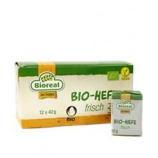 Levure boulangère fraîche, vegan /  Bio-Hefe frisch, Bioreal, 12x42g