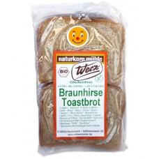 Toasts de millet sauvage, sans gluten / Braunhirse Toastbrot, Werz, 250g