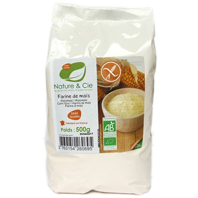 Farine de maïs, sans gluten, Nature & Cie, 500g