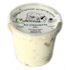 """Fromage à tartiner au lait frais de brebis """"Ail-Ciboulette"""", Le Sapalet, 100g"""