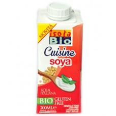 Crème de soja sans gluten et sans lactose / Cuisine soya, Isola Bio, 200ml