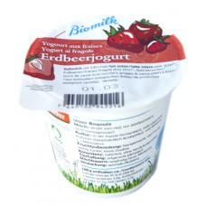 Yogourt aux fraises demeter, Biomilk, 150g