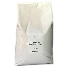 Lentilles rouges, Biopartner, 2,5kg