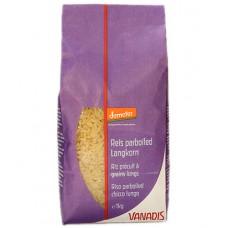 Riz précuit à grains longs parboiled demeter, Vanadis, 1kg