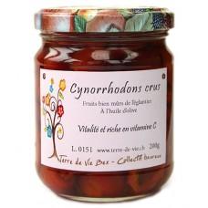 Demis cynorrhodons crus, à l'huile d'olive, 200g