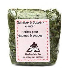 Herbes pour légumes & soupes / Gemüse & Suppen-kräuter, E. Grünenfelder, Vaulion, 18g