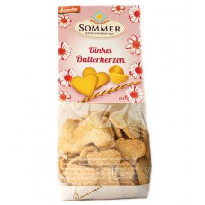 "Biscuits au beurre à l'épeautre ""coeur"", demeter / Dinkel Butterherzen, Sommer, 150g"