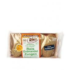 Biscuits-langues riz-noix tigrées (souchet), sans gluten / Reis Erdmandel Zungen, Werz, 100g