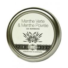 """Bonbons """"Menthe Verte & Menthe Poivrée"""", Jardin des Monts, 50g"""