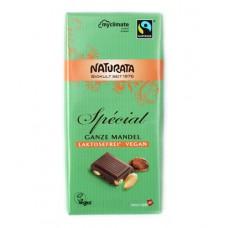 "Chocolat ""Spécial"" amande entière, vegan / Ganze Mandel Schokolade, Naturata, 100g"