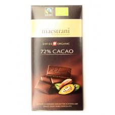 Chocolat noir (72% cacao), Maestrani, 80g