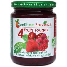 Confiture aux fruits rouges sans sucre ajouté, Confit de Provence, 290g