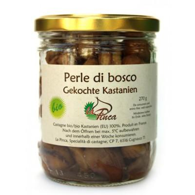 Châtaignes cuites nature / Perle di bosco, Gekochte Kastanien, La Pinca, 270g