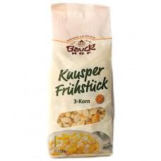 Muesli croquant 3 céréales sans gluten / Knusper Frühstück 3 Korn, BauckHof, 225g